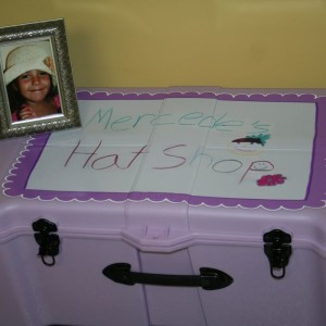 The first hat shop that is currently in Hemby's Children Hospital of Charlotte, NC.